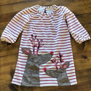 Mudpie Reindeer Dress Size 5T 🎄
